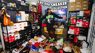 MY ENTIRE $80,000 SNEAKER COLLECTION!!! & $1000 GIVEAWAY! 373 PAIRS IN TOTAL!
