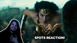 "WONDER WOMAN ""POWER"" ""TOGETHER"" REACTION - Reação aos Spots Mulher Maravilha"