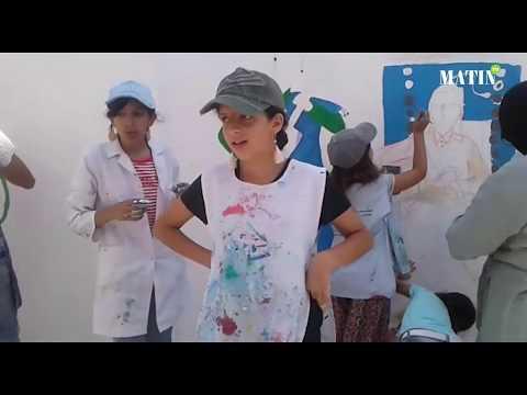 Video : Des artistes en herbe réalisent une belle fresque murale
