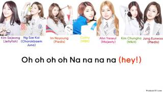 Produce 101 - Fingertips Color Coded Lyrics (Han/Rom/Eng)