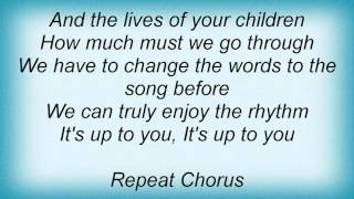 Lionel Richie - To The Rhythm Lyrics
