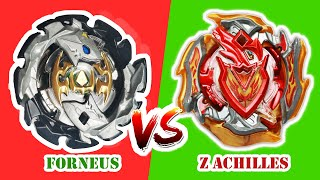 BeyBlade Forneus vs Z Achilles! What kind of BayBlade breaks up in the arena?