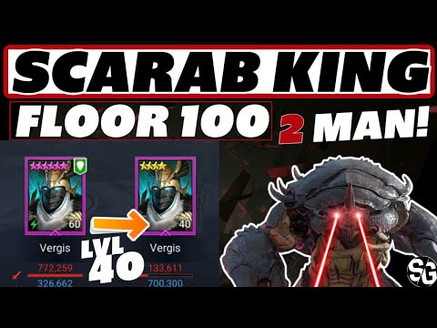 2 EPICS Scarab King 100 - Easy win Raid Shadow Legends Scarab King guide
