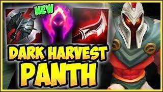 PANTH 100% CRIT PASSIVE + NEW DARK HARVEST IS 100% TOO OP! PANTHEON SEASON 9! - League of Legends