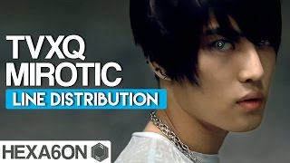 TVXQ - Mirotic Line Distribution (Color Coded)