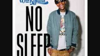 Wiz Khalifa No Sleep  CLEAN  (lyrics)