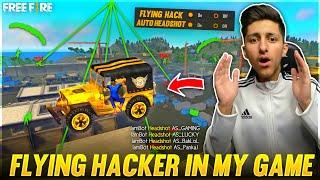I Meet Flying Hacker In Free Fire😱 , Diamond Hack 💎, Wall Hack , Headshot Hack - Garena Free Fire