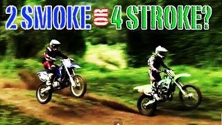 2 Stoke VS 4 Stroke Motocross - EXHAUST SOUND ONLY