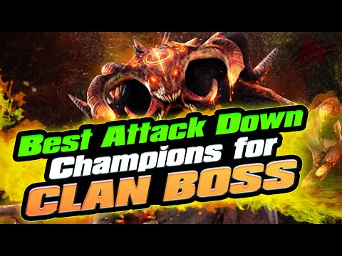 Best Attack Down Champions for Clan Boss I Raid Shadow Legends