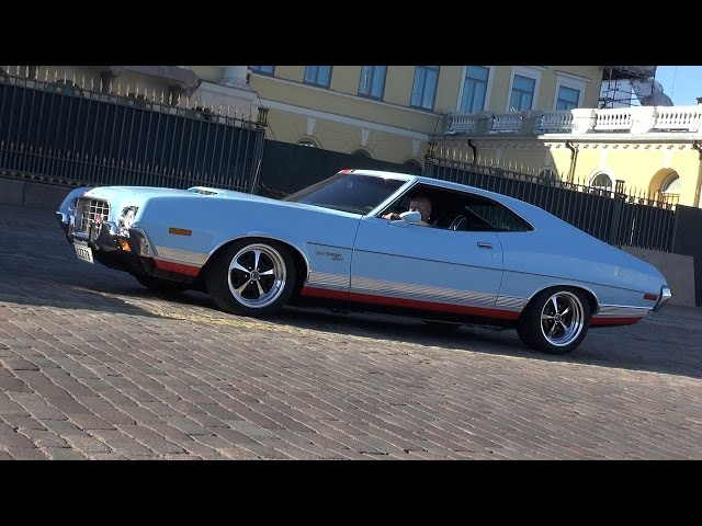 1972 Ford Gran Torino Sport - startup and great exhaust sound!