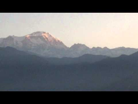 Annapurna range Sunrise view from Sarangkot, Pokhara Nepal and 3 days Dhampus Sarangkot trek