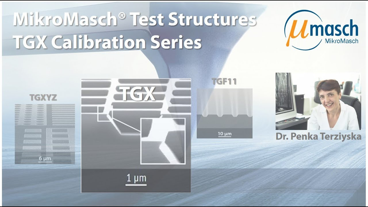 MikroMasch HQ Line Test Structures: TGX Calibration Series