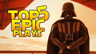 Star Wars Battlefront TOP 5 PLAYS: We do not grant you the rank of Master!