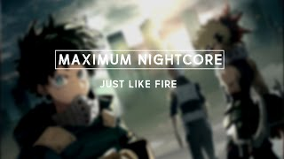 Nightcore  - Just Like Fire (Male Version)