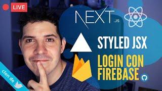 NextJS: Login en GitHub con Firebase y más Styled JSX