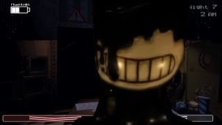 BENDY ATTACK JUMPSCARE FOUND in FNAF?! (Bendy And The Ink Machine)