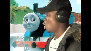 "I put thomas the tank engine music under ""man's not hot's"" song"