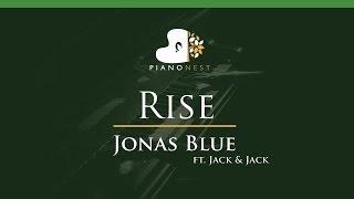 Jonas Blue - Rise ft. Jack & Jack - LOWER Key (Piano Karaoke / Sing Along)
