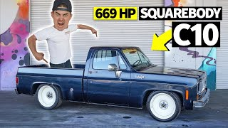 Chevy C10 Work Truck Turned 669hp Party Animal: Zac's Square Body Chopper Hauler