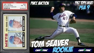 1967 Tom Seaver Topps #581 rookie cards for sale; graded PSA 9