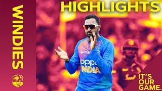 Rohit Hits 50 Before Rain Stops Windies Chase | Windies vs India - Match Highlights | 2nd IT20 2019