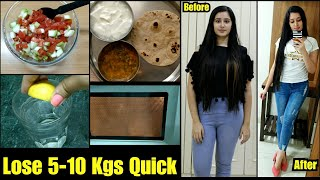 MONSOON WEIGHT LOSS  DIET PLAN to Lose 5 Kgs in 2 weeks  Tried and Tested