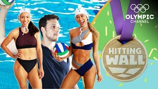 Can fitness influencers handle a water polo workout from Team Italy? | Hitting the Wall