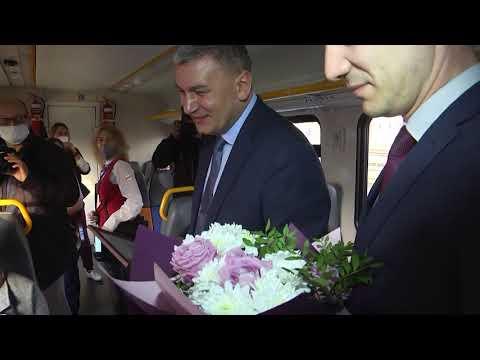 Пригородный поезд «ОРЛАН» перевез первую 1000 пассажиров