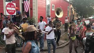 New Orleans Jazz and Heritage Festival after party in the streets