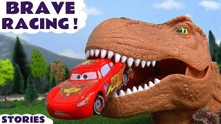 Disney Cars Toys Racing Toy Car Kids stories with Dinosaur and Thomas and Friends Trains TT4U