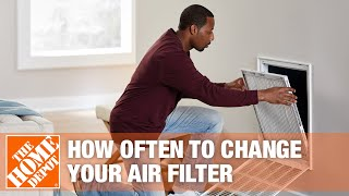 A video outlining types of home air filters and how often they should be changed.