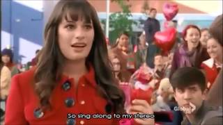 Glee - Stereo Hearts (Full Performance with Lyrics)
