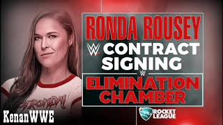 WWE Elimination Chamber 2018 Ronda Rousey Contract Signing Official Match Card HD