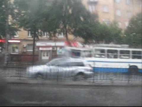 19.07.2010 Zaporizhzhja,Ukraine.Hail & rain…Дождь и град…wmv