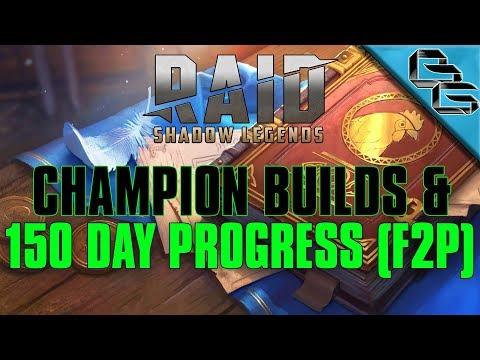 RAID: Shadow Legends | 150 Day Progress + Champion Builds !!! | FREE Sacred Shard | F2P