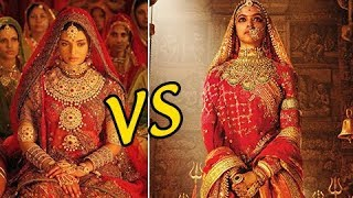 Deepika Padukone Padmavati Compared To Aishwarya Rai's Jodha Akbar width=