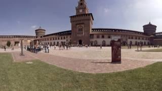 360 video: Sforza Castle, Milan, Italy