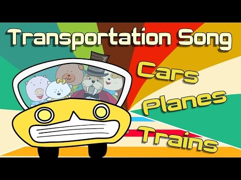 Transportation Song | Transportation for kids | The Singing Walrus - YouTube