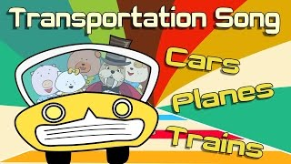 Transportation Song | Transportation for kids | The Singing Walrus