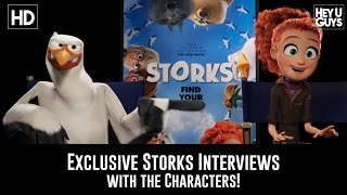 Storks Movie Exclusive Interviews with the Animated Stars!