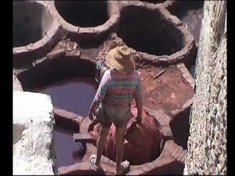 FES MOROCCO LEATHER TANNERY DYE PITS
