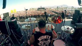 Branden Steineckert of Rancid performing Ruby Soho at Coachella 2016