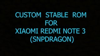Resurrection Remix 5.8.3 STABLE ROM for Redmi note 3 Kenzo (snapdragon) with Gapps and 0 bugs