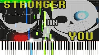 Stronger Than You - Undertale Animation Parody (Syntheisa Tutorial For Two Pianos)