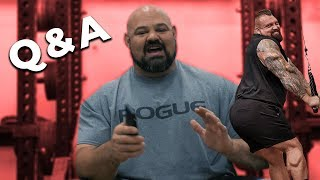 KISSING EDDIE HALL | GOING HULK MODE | QUESTION AND ANSWER