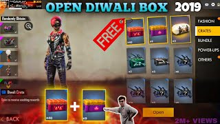 Free fire opening 40 Diwali box / I Got All ? | Elite pass box,Diwali top up| Gun Creates !