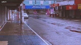 Feriado de ruas vazias e chuva em Novo Hamburgo