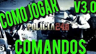 COMO JOGAR GTA POLICIA 24H V3.0 Notebook e PC (TODOS COMANDOS)