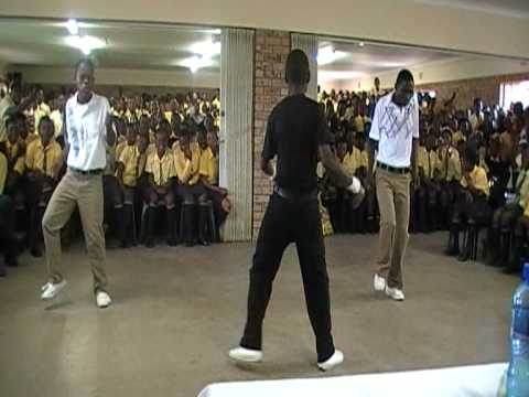 South Africa 2009- Boys dance in assembly
