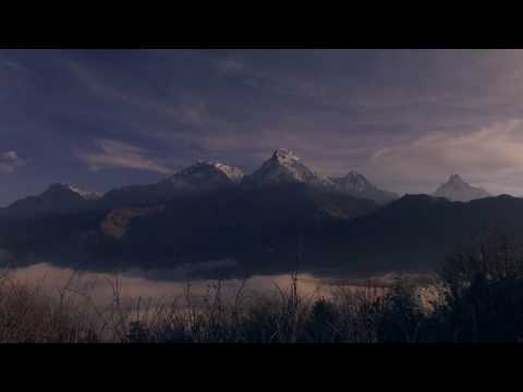 Sunrise Poon Hill, Ghorepani, Annapurna range, Himalaya, Nepal, Poonhill, clouds